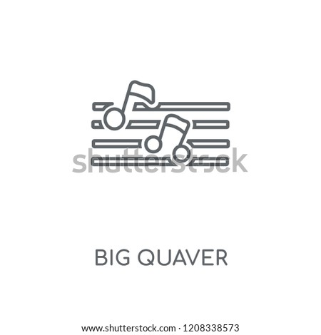 Big Quaver linear icon. Big Quaver concept stroke symbol design. Thin graphic elements vector illustration, outline pattern on a white background, eps 10.