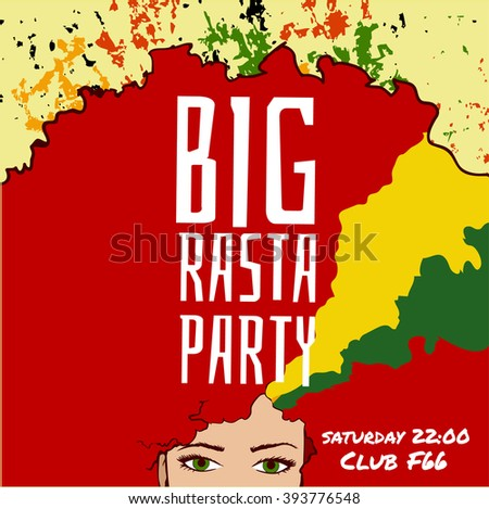 big rasta party  party flyer