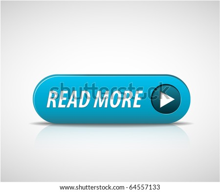Big Read More button with shadow and reflections - stock vector