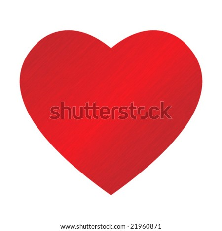 big red dappled heart on blue background