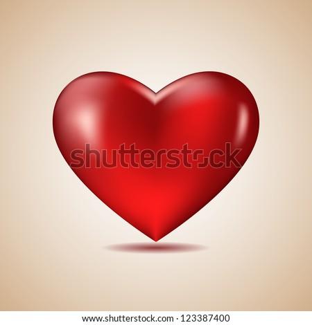 Big Red Heart, Vector Illustration