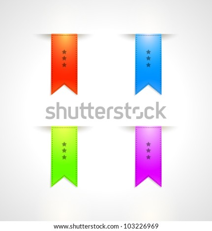 Big Ribbons Set, Isolated On White Background. Vector set.