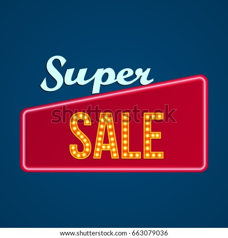 big sale abstract retro sign...