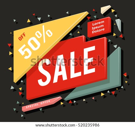 Big sale advertising banner and layout special offer concept sticker vector illustration
