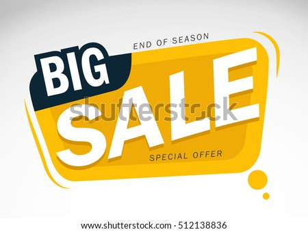 Big Sale and special offer, End of Season, Special Offer Vector illustration.Theme color.