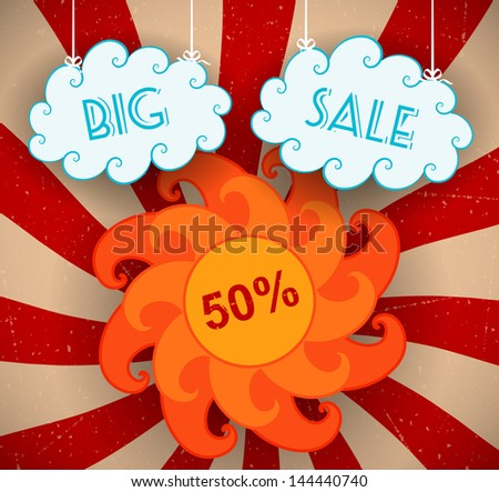 Big sale background. Vector illustration