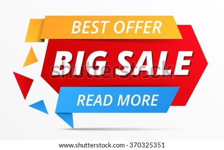 Big sale banner, best offer, vector eps10 illustration
