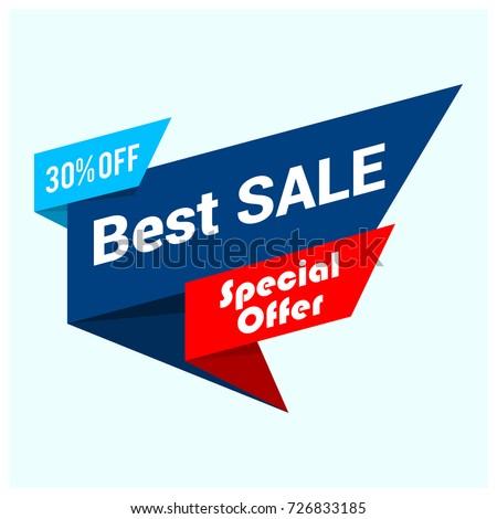Big sale banner, best offer, vector eps10 illustration #726833185