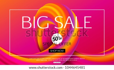 Big Sale Banner design for online shopping or advertising campaign