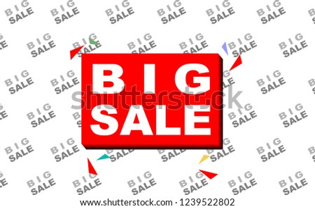 Big Sale Banner Template With Backdrop
