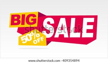 Big sale banner. Vector illustration