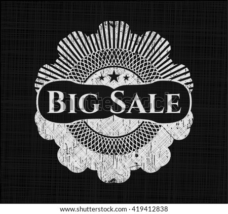 Big Sale chalk emblem