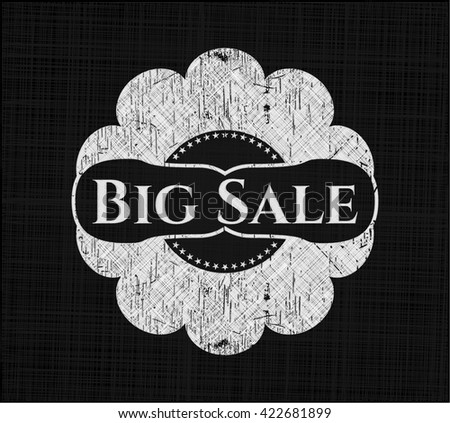 Big Sale chalkboard emblem on black board