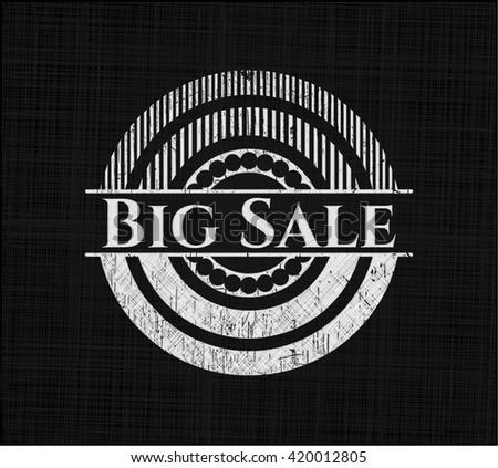 Big Sale chalkboard emblem written on a blackboard