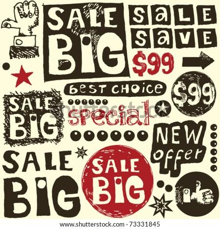big sale crazy doodles