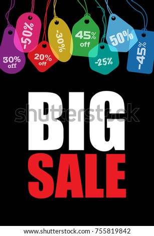 big sale creative colorful