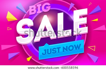 Big sale for web app banner. Discount banner design. Vector illustration fashion newsletter designs, poster design for print or web, media, promotional material - stock vector