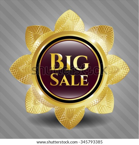 Big Sale gold badge or emblem
