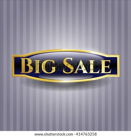Big Sale golden emblem