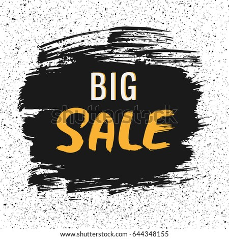 big sale hand drawn lettering
