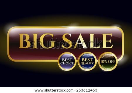 Big sale icon or label. Premium design