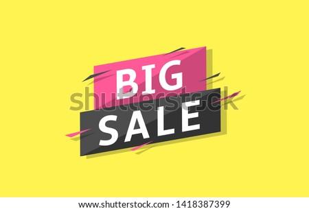Big sale label. Sale banner template, Vector illustration