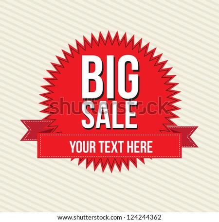 Big sale over white background vector illustration