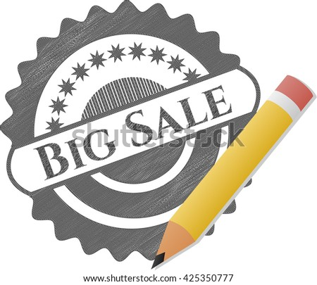 Big Sale pencil emblem