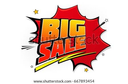 big sale pop art splash