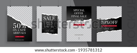 Big sale poster template. Easy to adapt to brochure, annual report, magazine, poster, card, corporate presentation, portfolio, flyer, banner, website, app