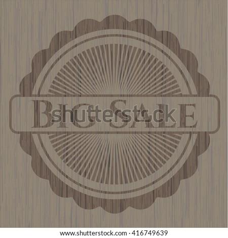 Big Sale retro style wooden emblem