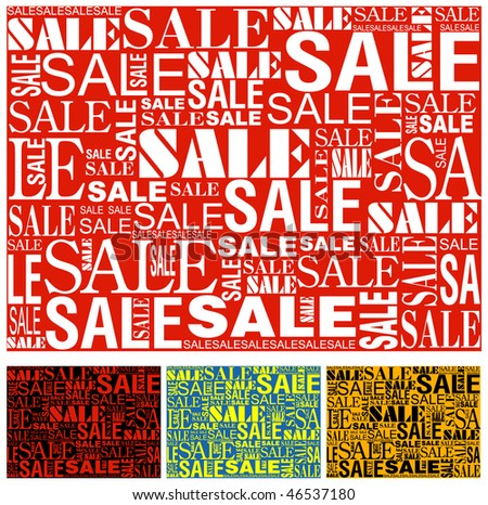 Big sale seamless vector texture.