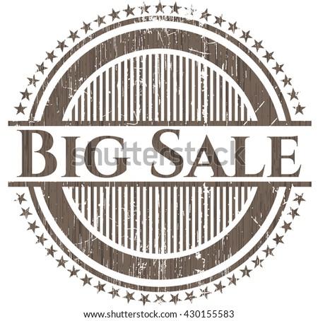 Big Sale wood emblem. Vintage.