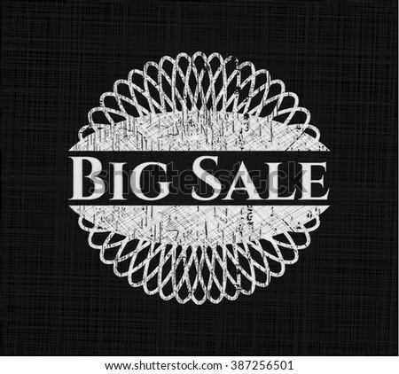 Big Sale written on a blackboard