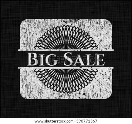 Big Sale written on a chalkboard