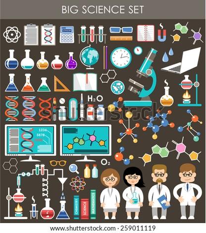 big science set infographics