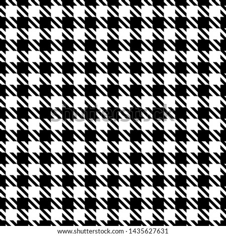 Big Seamless Graphic Houndstooth Pattern Black And White Foto stock ©