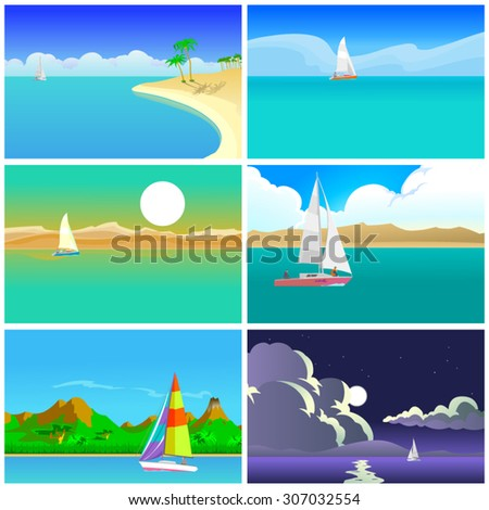 big seascapes set 6 beautiful