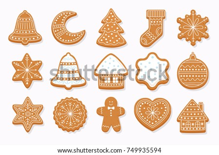 big set christmas gingerbread