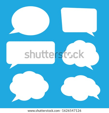 Big set hand drawn monochrome comic speech bubbles. Stickers of speech bubbles vector