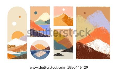 big set of abstract mountain