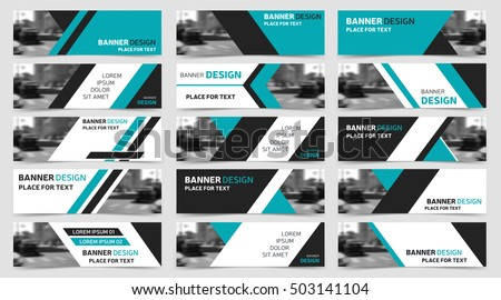 Creative yellow business banner template download free vector art big set of blue horizontal business banner templates modern technology design abstract background layout flashek Choice Image