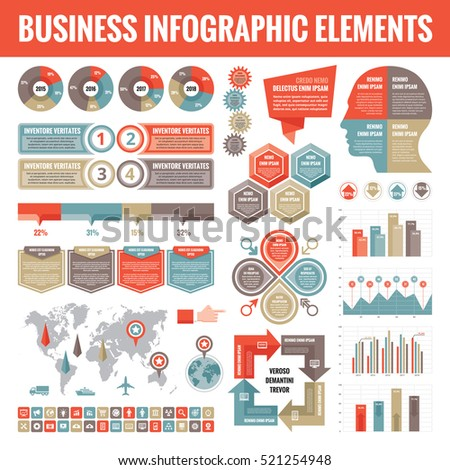 big set of business infographic