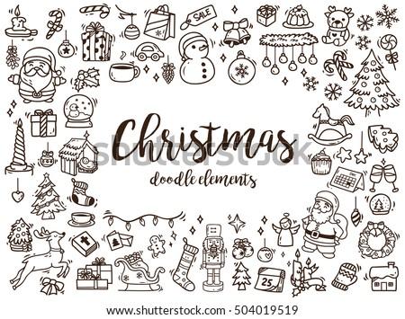 big set of christmas design