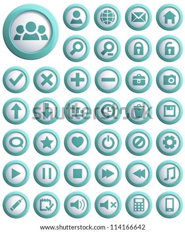 Big set of 3d Web Icon. Vector illustration.