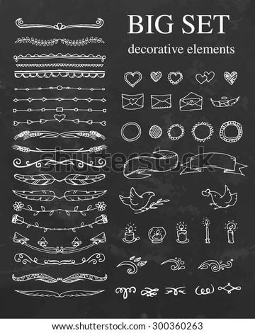 stock-vector-big-set-of-decorative-element-divides-ribbon-hearts-vector-illustration