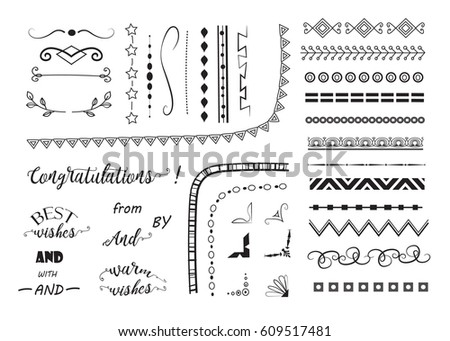 big set of decorative elements.banners, borders, frame, corners,wreaths and text dividers. vector design elements