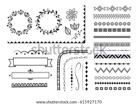 big set of decorative elements/ borders, frame, banners,corners,wreaths and text dividers. vector design elements