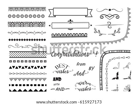big set of decorative elements/ borders, frame, corners,banners and text dividers. vector design elements