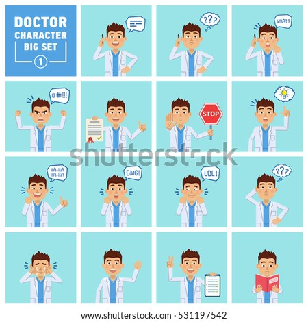 big set of doctor characters